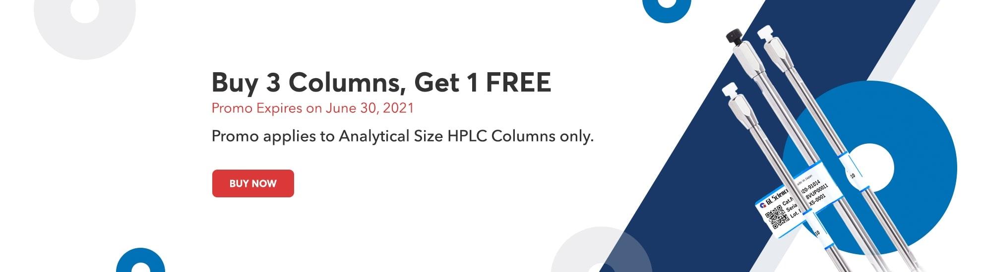 Buy 3 Analytical Columns, Get 1 Free